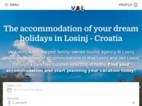 Frontpage screenshot for site: Turistička agencija Val - Otok Lošinj (http://www.val-losinj.hr/)