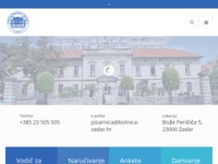 Slika naslovnice sjedišta: Opća bolnica Zadar (http://www.bolnica-zadar.hr)