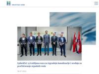 Frontpage screenshot for site: Hrvatske vode (http://www.voda.hr)