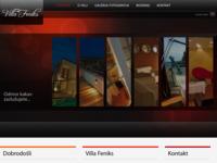 Frontpage screenshot for site: Villa Feniks Pula (http://www.villafeniks.hr/)