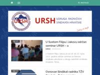 Slika naslovnice sjedišta: Udruga radničkih sindikata Hrvatske (http://www.ursh.hr)