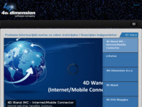 Frontpage screenshot for site: 4th Dimension (http://www.4d-software.com/)