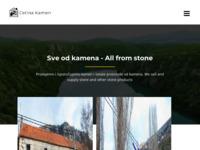 Frontpage screenshot for site: (http://www.cetina-kamen.com)