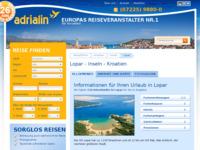 Frontpage screenshot for site: Lopar (http://www.kroatien-adrialin.de/ortsinfos/lopar/)