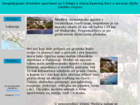 Frontpage screenshot for site: Medići - idealno ljetovanje (http://free-zg.htnet.hr/panda/more)