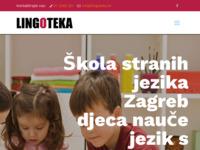 Frontpage screenshot for site: Škola stranih jezika Lingoteka (http://www.lingoteka.hr)