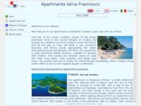 Frontpage screenshot for site: Apartmani Istra Franinović (http://www.apartman-franinovic.hr/)