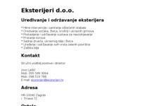 Slika naslovnice sjedišta: Eksterijeri - uređenje zelenih površina (http://www.eksterijeri.hr)