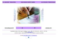 Frontpage screenshot for site: Sudski tumači i prevoditelji za sve europske jezike (http://www.inet.hr/~gcalic)