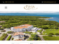 Frontpage screenshot for site: Obiteljski hotel Pinia, Porat (http://www.hotel-pinia.hr/)