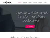 Frontpage screenshot for site: InfoPlus internet dućan (http://infoplus.hr)