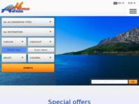 Frontpage screenshot for site: Adriahome.com - hoteli i apartmani u Hrvatskoj (http://www.adriahome.com/)