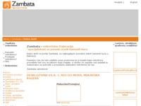 Frontpage screenshot for site: Agencija za nekretnine Zambata (http://www.zambata.hr/)