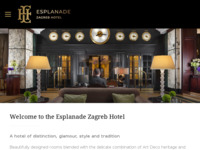 Frontpage screenshot for site: Hotel Esplanade Zagreb (http://www.esplanade.hr/)