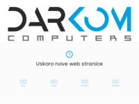 Frontpage screenshot for site: DarKom Computers (http://www.darkom.hr/)