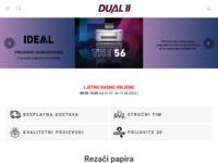 Slika naslovnice sjedišta: Web shop (http://www.dual.hr)
