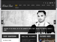 Frontpage screenshot for site: Mihaela Paar klarinetist (http://www.mihaelpaar.com/)