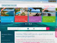 Frontpage screenshot for site: Croatian Villas (http://www.croatianvillas.com)