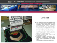 Slika naslovnice sjedišta: Letex-vez obrt za strojno vezenje tekstila (http://www.letex-vez.com)