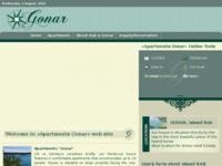 Frontpage screenshot for site: Apartmani Gonar, privatna plaža, vez za plovila (http://www.gonar.info)