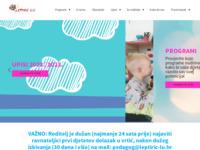 Frontpage screenshot for site: Dječji vrtić Leptirić Lu (http://www.leptiric-lu.hr/)