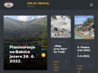 Slika naslovnice sjedišta: Hrvatski planinarski klub Sveti Mihovil-Šibenik (http://www.sv-mihovil.hr/)