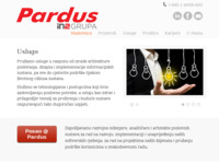 Frontpage screenshot for site: Pardus / eBusiness Enabling Company (http://www.pardus.hr)