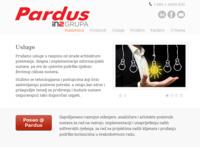 Slika naslovnice sjedišta: Pardus / eBusiness Enabling Company (http://www.pardus.hr)