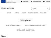 Frontpage screenshot for site: Fraktura (http://www.fraktura.hr/)
