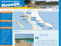 Frontpage screenshot for site: Novalja - Prekrasne plaže - Biseri Novalje (http://www.novalja.info/plaze-hr.shtml)