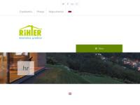Frontpage screenshot for site: Montažne kuće Rihter (http://www.rihter.hr)