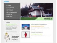 Frontpage screenshot for site: Valter - zavšni radovi u građevinarstvu, prerada plastičnih masa (http://www.valter.hr)