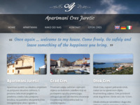 Frontpage screenshot for site: Apartman Juretić (http://www.cresislandapartment.com)