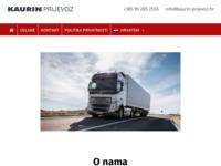 Slika naslovnice sjedišta: Kaurin prijevoz d.o.o. (http://www.kaurin-prijevoz.hr)