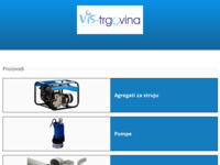 Frontpage screenshot for site: (http://www.vis-trgovina.hr)