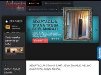 Frontpage screenshot for site: Adaptacije d.o.o. (http://www.adaptacija-stana.com/)