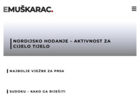 Frontpage screenshot for site: Muškarac.com - online magazin za modernog muškarca (http://www.e-muskarac.com)