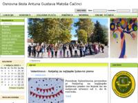 Slika naslovnice sjedišta: Stranice Osnovne škole Antuna Gustava Matoša u Čačincima (http://www.os-agmatosa-cacinci.skole.hr/)