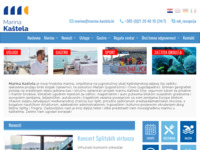 Frontpage screenshot for site: Marina Kaštela (http://www.marina-kastela.hr/)