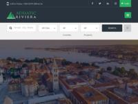 Frontpage screenshot for site: Adriatic Riviera - agencija za promet nekretninama - Zadar (http://www.adriaticriviera.hr)