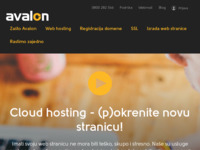 Frontpage screenshot for site: Avalon (http://www.avalon.hr)