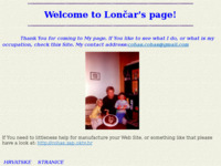 Frontpage screenshot for site: Welcome to Lončar's page! (http://free-zg.htnet.hr/StjepanLoncar/)