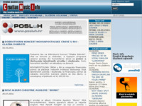 Frontpage screenshot for site: Hrvatski glazbeni portal (http://croatian-music.info/)