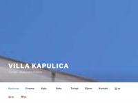 Frontpage screenshot for site: Villa Kapulica (http://www.villa-kapulica.com/)