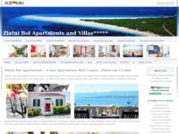 Frontpage screenshot for site: Zlatni Bol apartmani (http://www.zlatni-bol.com)