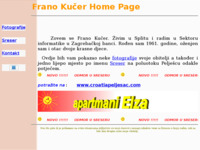 Frontpage screenshot for site: Frano Kučer home page (http://www.inet.hr/~fkucer)