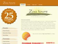 Frontpage screenshot for site: Zoa tours - turistička agencija (http://www.zoatours.hr)