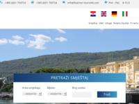 Frontpage screenshot for site: Kvarner touristik - Smještaj u Opatiji (http://www.kvarner-touristik.com)