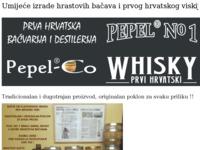 Frontpage screenshot for site: Pepel-co - Tradicionalna proizvodnja hrastovih bačava (http://www.inet.hr/~hpepelko)