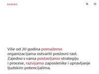 Frontpage screenshot for site: Ramiro - centar za usavršavanje i komunikaciju (http://www.ramiro.hr/)